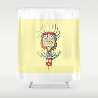 indian Shower Curtains featuring Indian by Emeline Chauvin