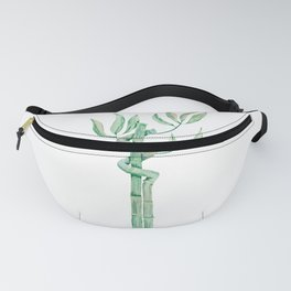 Green bamboo watercolor Fanny Pack