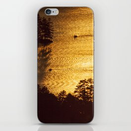 Golden Waters on Newfound Lake iPhone Skin