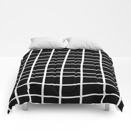 Hand Grid Large Black Comforters