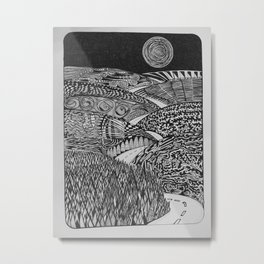 Black Mountain Pass Metal Print