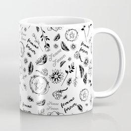 Femme Forever - Cute Floral Occult Picture Coffee Mug