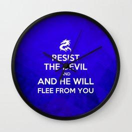 Resist the Devil - Bible Lock Screens Wall Clock