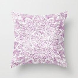 BOHEMIAN FLOWER MANDALA IN PINK Throw Pillow