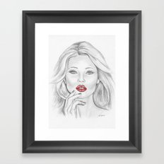Patriotic Kate Framed Art Print