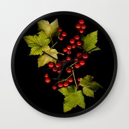 Red currant Wall Clock
