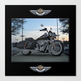 Harley Road King in #3dsmax My design Canvas Print