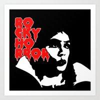 rocky horror Art Prints featuring Rocky Horror Fan Art by Maira Artwork