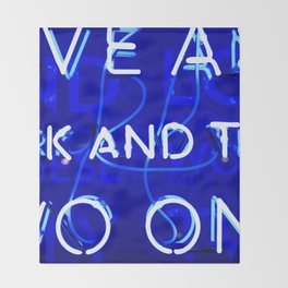 Blue Neon  Throw Blanket