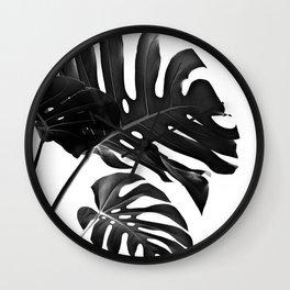 Tropical Monstera Finesse #2 #minimal #decor #art #society6 Wall Clock