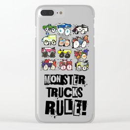 Monster Truck Kid Art by Tucker Clear iPhone Case