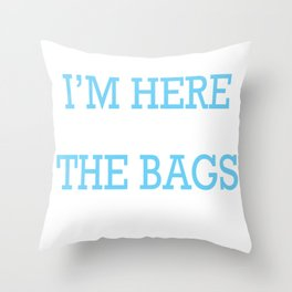 Black Friday Bags Shopping Lover Discounts Throw Pillow