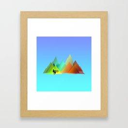 MTB Moutains Colors Framed Art Print
