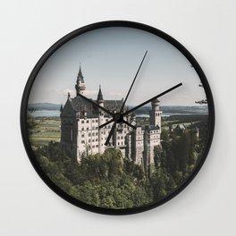 Neuschwanstein fairytale Castle - Landscape Photography Wall Clock