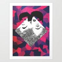 danisnotonfire Art Prints featuring Danisnotonfire & AmazingPhil   by xzwillingex