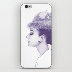 Audrey Hepburn in Purple  iPhone & iPod Skin