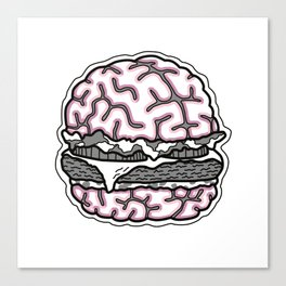 Burger on my Mind Canvas Print