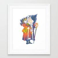 chris evans Framed Art Prints featuring Chris by David Chestnutt