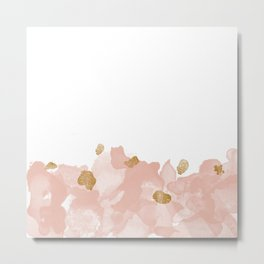 Gold In The Blush Metal Print