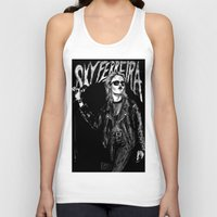 sky ferreira Tank Tops featuring Sky ferreira no,13 ''Night time is my time''' by Lucas David