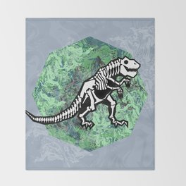 T. Rex Fossil Throw Blanket