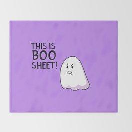 Grumpy Ghost Throw Blanket