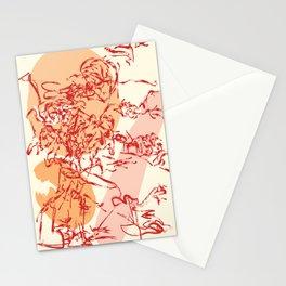 orange organism Stationery Cards