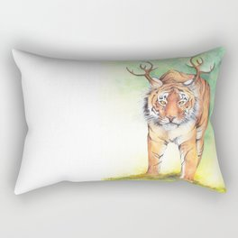 What If...?? Tigers Had Antlers! Rectangular Pillow