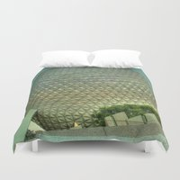 spaceship Duvet Covers featuring Spaceship Earth by Bottoms Concepts: Photography and Design