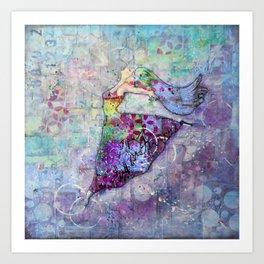 The Brenda - Dancing Queen Mixed Media Art Art Print