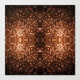 Beautiful Bronze Orange Brown glitters sparkles Canvas Print