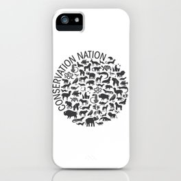 A Circle of Animals iPhone Case