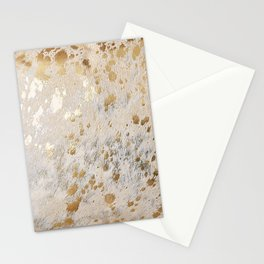 Gold Hide Print Metallic Stationery Cards
