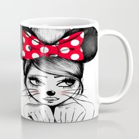 minnie mouse Mugs featuring Minnie by theavengerbutterfly