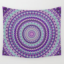 Iris Passion Mandala Wall Tapestry
