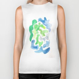 171122 Watercolour Abstract 5 abstract shapes art design colour  shapes art abstract Biker Tank