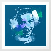 bjork Art Prints featuring Bjork by BIG Colours