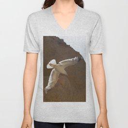 Seagull in the sky Unisex V-Neck