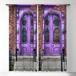 Purple Doorway, Brick Brownstone Blackout Curtain