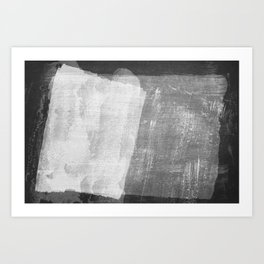 Minimal Black and White Abstract 08 Texture Art Print