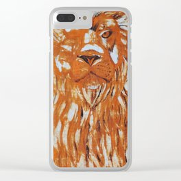 Are you strong like a lion? Clear iPhone Case