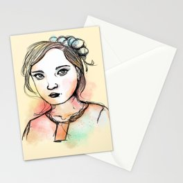 Ink Girl III Stationery Cards