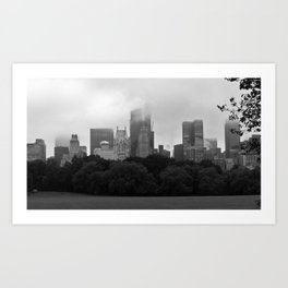 fog in city... Art Print