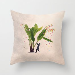 The candy shaker Throw Pillow