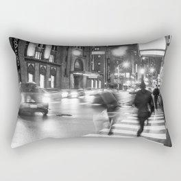 Night Blur Rectangular Pillow