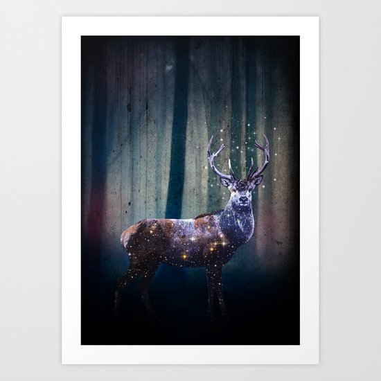 Deep In The Woods Art Print