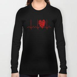 Social Worker Heartbeat Long Sleeve T-shirt