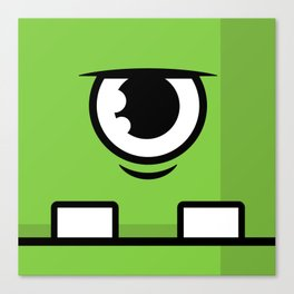 Monsters⁴ : Green Canvas Print