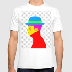 Mr. Colors SMALL White Mens Fitted Tee