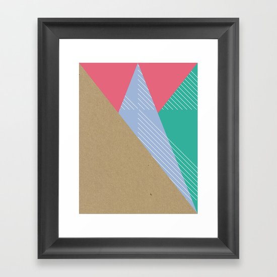 Cardboard & Combo Stripes Framed Art Print